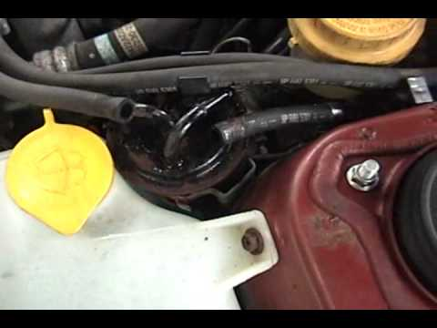 subaru legacy fuel filter replacement youtube