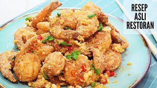 Resep Udang Goreng Telur Asin yang Super Enak | Salted Egg Shrimp Recipe