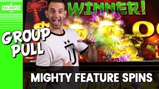 👨‍👩‍👧 MIGHTY Feature 💰 Group Pull @ San Manuel Casino ✪ BCSlots