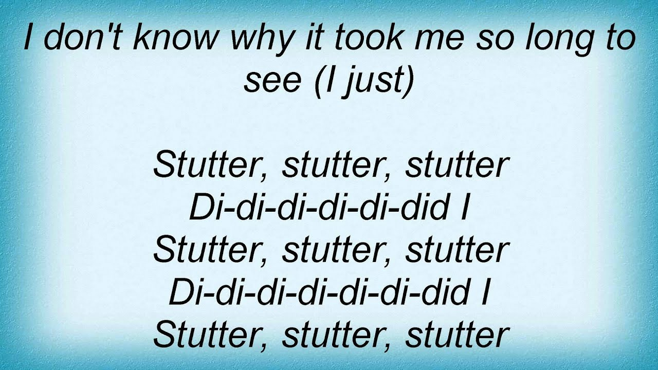 marianas trench stutter lyrics youtube