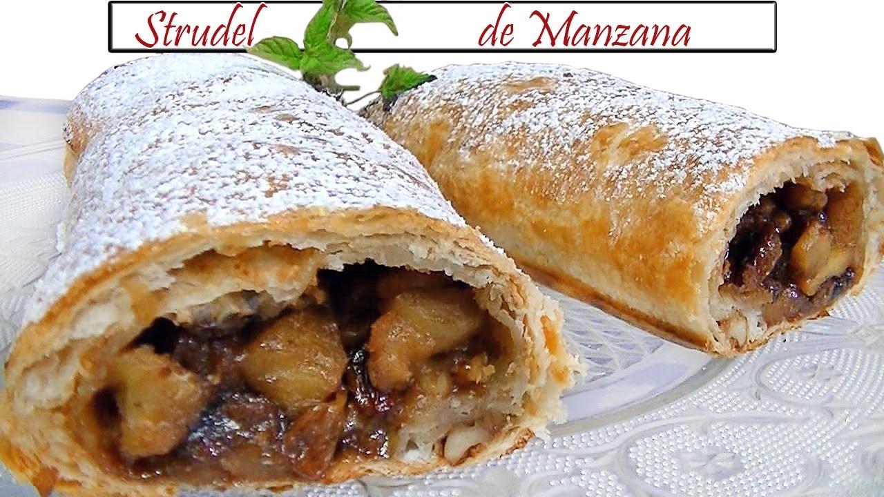 Strudel De Manzana Receta De Cocina En Familia Youtube