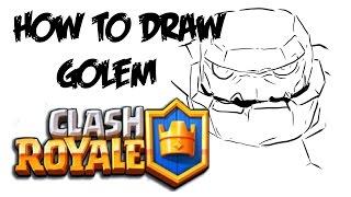 How to Draw Golem (Clash Royale)