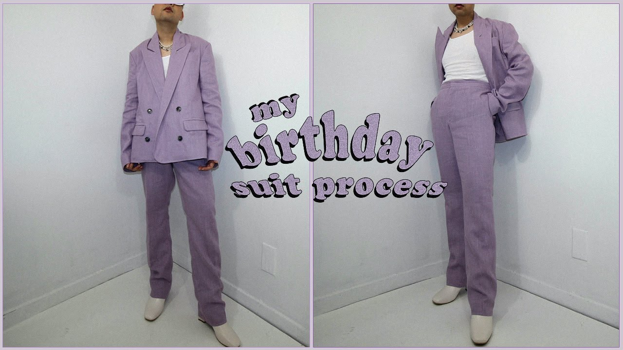 I made my Birthday Suit from Scratch 💜 #process