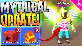 ROBLOX MINING SIMULATOR - MYTHICAL CRATES AND EGGS UPDATE! *FREE ITEMS*