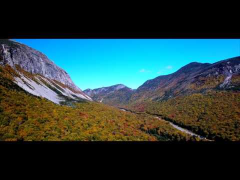 Franconia Notch, White Mountains, New Hampshire in 4K Ultra HD