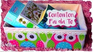 Tutorial: Contenitori Fai da Te con Scatole di Cartone | Riciclo Creativo | DIY Storage Box