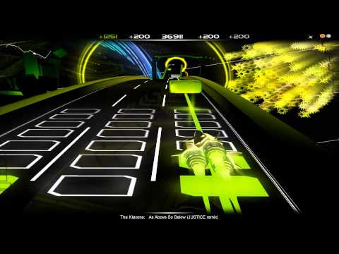 Audiosurf - The Klaxons - As Above So Below (JUSTICE Remix)