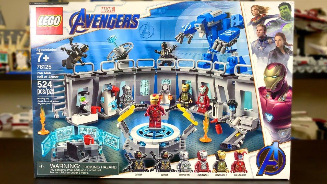LEGO Avengers Endgame 2019 Iron Man Hall of Armor Review! Set 76125!