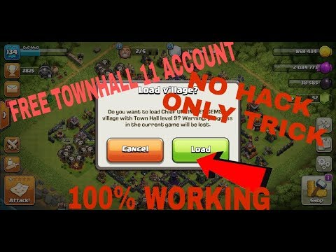 HOW TO GET FREE TH 11 ACCOUNT.NO HACK ONLY TRICK..