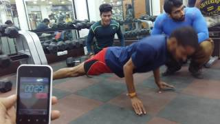 Golden Book Of World Records most number of push ups on thumb in a minute Vishal Chouhan