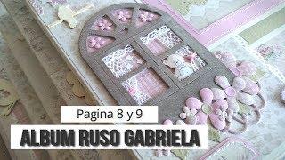 ALBUM RUSO PARA GABRIELA - TUTORIAL (PAGINA 8 y 9)   LLUNA NOVA SCRAP
