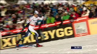 Men's 15 km (C) Mass start - WC Falun 2018 - Halfvarsson vs Bolshunov