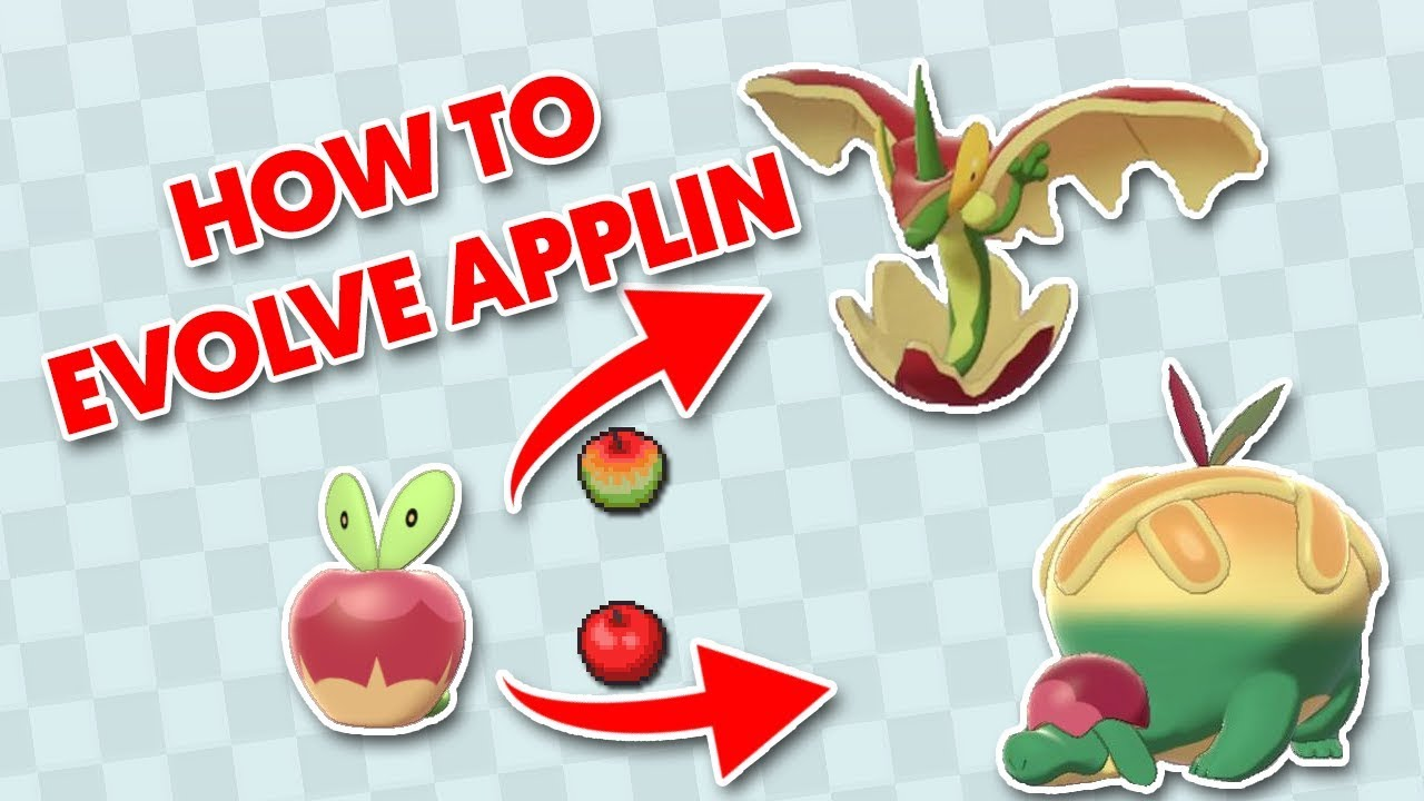 How To Evolve Applin How To Get Tart Or Sweet Apple Youtube