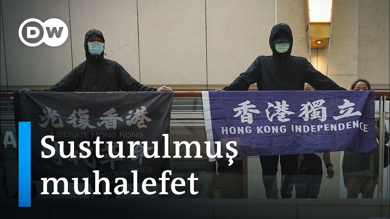 Hong Kong | Protesto afişleri boş, parti çizgisine uymayan kitaplar yasak - DW Türkçe