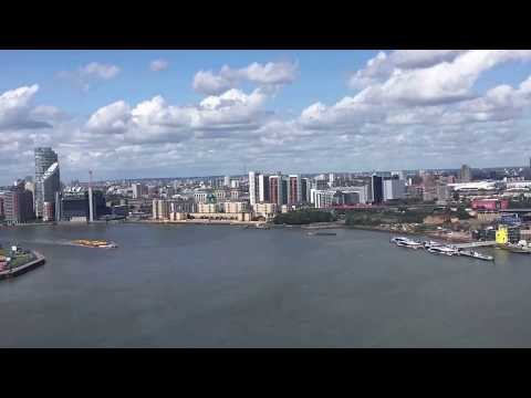 London view from Emirates Air Line cable car