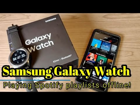 Samsung Galaxy Watch (2018) - How to download Spotify playlists for offline use! Mp3