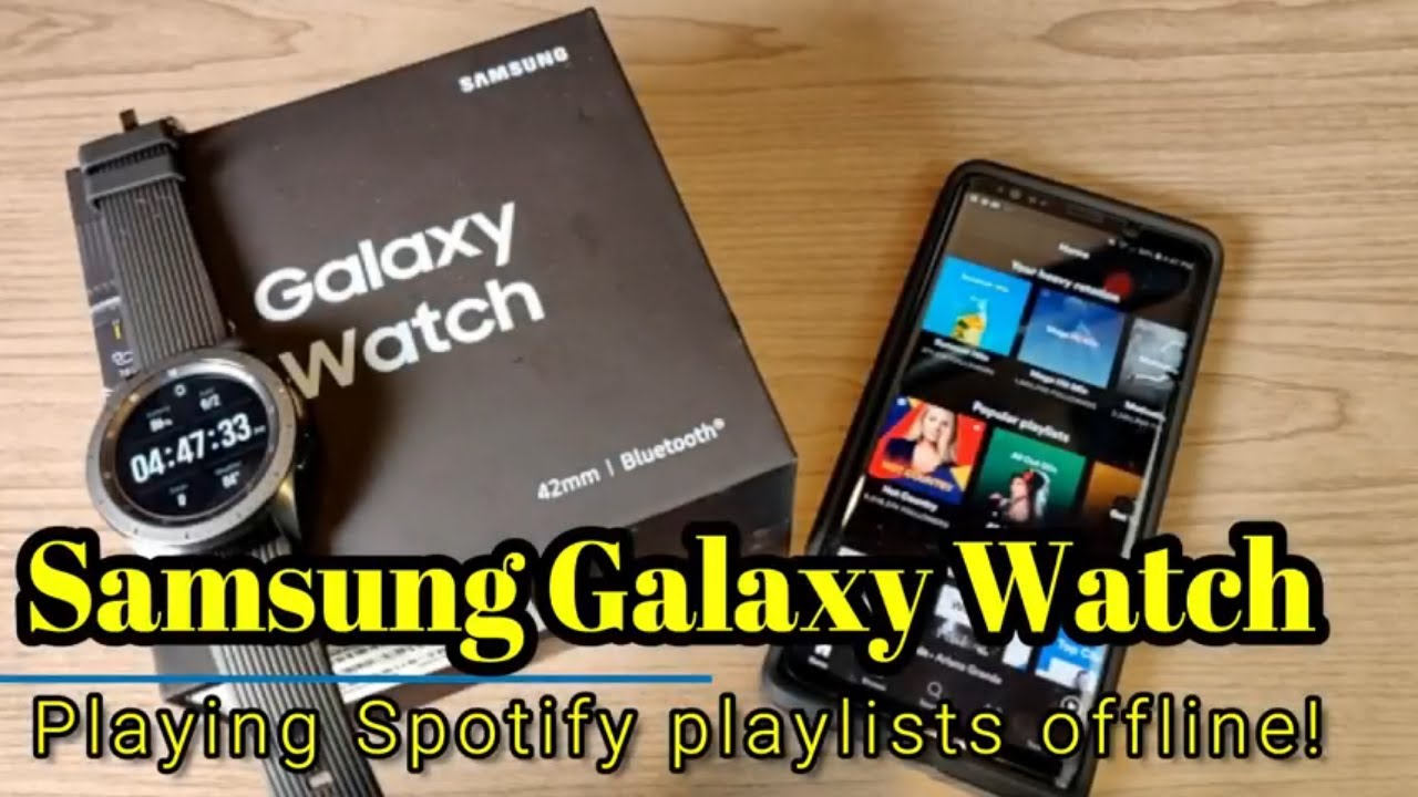 Samsung Galaxy Watch (2018) - How to download Spotify playlists for offline  use!