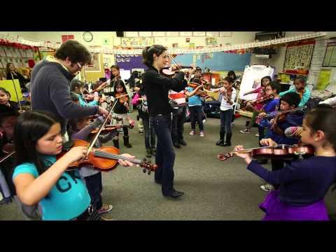 Pro Violinist Lindsay Deutsch visits Sheppard Elementary School