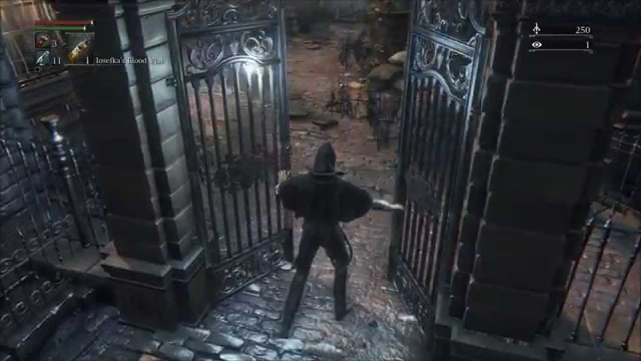 Bloodborne Open the Gate Next to the First Lamp Save Point in Central Yharnam