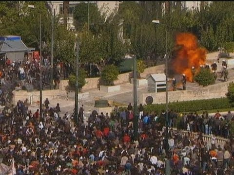 ATHENS ERUPTS: Violence as Parliament votes