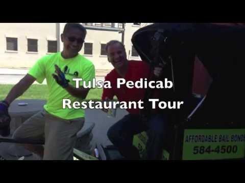 Tulsa Pedicabs Restaurant Tour