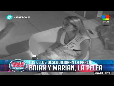 Brian vs. Marian: la pelea, en imágenes