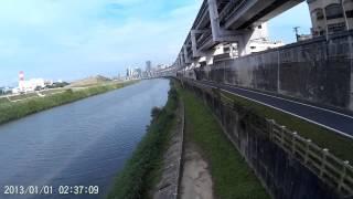 Freex pvc雲台底座測試1,使用sj4000攝影機,河堤邊風超大