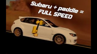 SUBARU with paddle [Featured rufux and a roblox n00b]