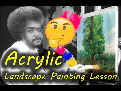 Acrylic Landscape Painting Lesson/ Easy Tips and Tricks