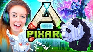 😱MINECRAFT MEETS ARK!?😍 (Watch this game destroy my soul) (PixArk #1 🐰)