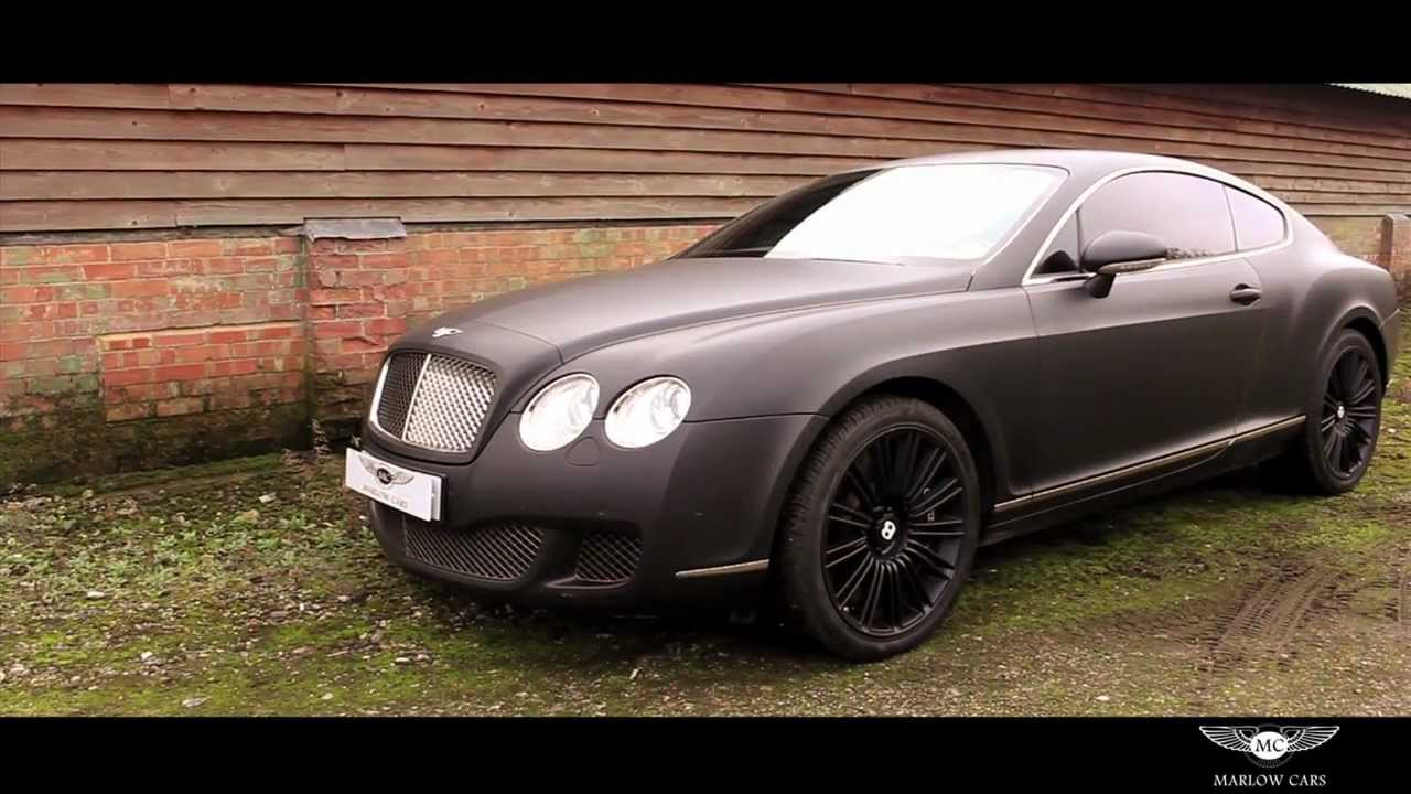 Bentley continental gt speed matte black marlow cars youtube vanachro Choice Image