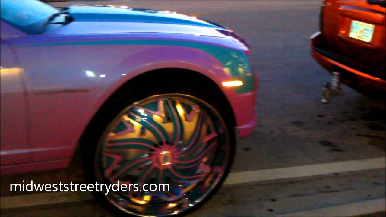 """OUTRAGEOUS CAMARO 32"""" DAVIN FLOATERS SPINNERS RIMS MIAMI ..."""