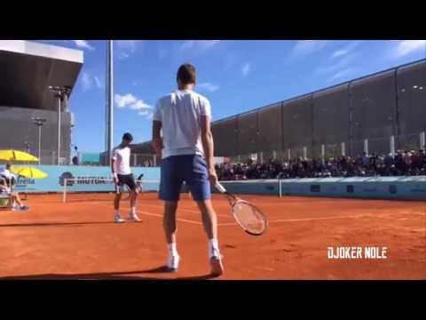 Novak Djokovic & Stan Wawrinka Practice - Madrid Open 2017