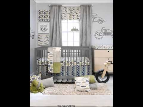 Uptown Traffic 4 Piece Baby Crib Bedding Set with Bumper By Sweet Potato