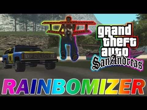 GTA San Andreas Rainbomizer Speedrun - Randomizing Cars, Car Colors, Voice Lines, And More!