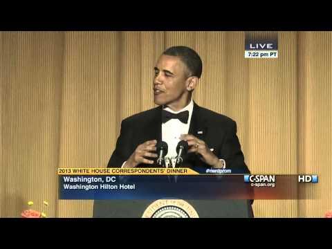 President Obama at 2013 White House Correspondents' Dinner (C-SPAN)