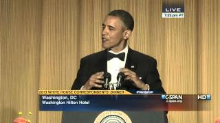 President Obama at 2013 White House Correspondents' Dinner. Watch the complete video here: http://cs.pn/1886TAu.