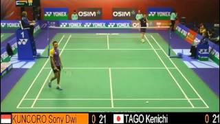 QF - MS - Sony Dwi KUNCORO vs TAGO Kenichi - 2013 Hong Kong Open