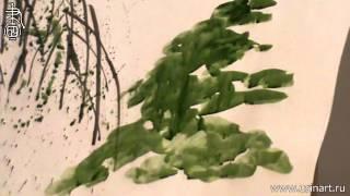 Обучение рисованию деревьев при помощи живописи у-син. Часть 7