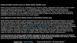 Quarantine Laws USA in 60 SECONDS