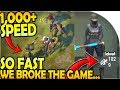 SO FAST WE BROKE THE GAME! (1,000+ SPEED) - Last Day On Earth Survival Update 1.9