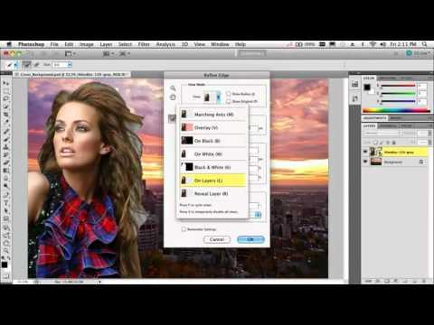 Tách tóc nhanh với photoshop CS5.flv