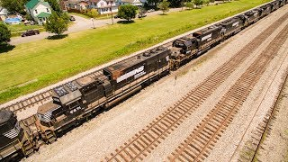 END OF THE LINE for the EMD SD60: NS Funeral Train for Scrap