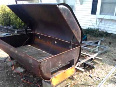 How To Build A Utility Trailer Pig Cooker Youtube