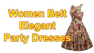 Best Sexy Women Belt Elegant Rockabilly Party Dresses Review