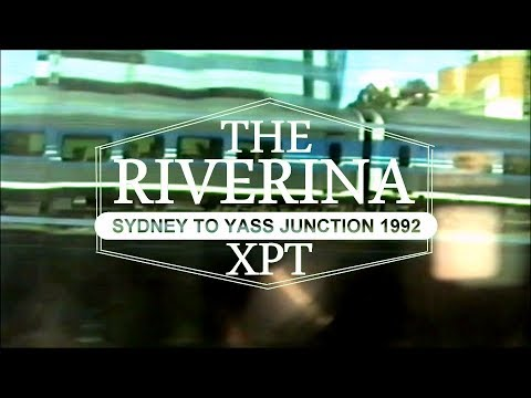 SlowTV Train Trip Riverina XPT Sydney to Yass Junction - way to Wagga Wagga 1992. Like 'The Ghan'! - yass