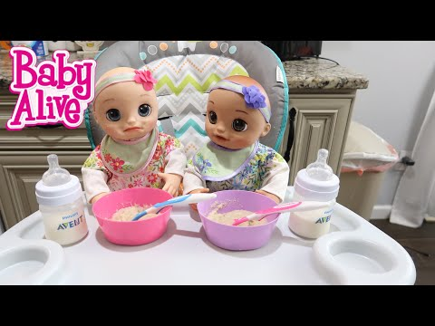 BABY ALIVE Twins Morning Routine baby alive real as can be baby