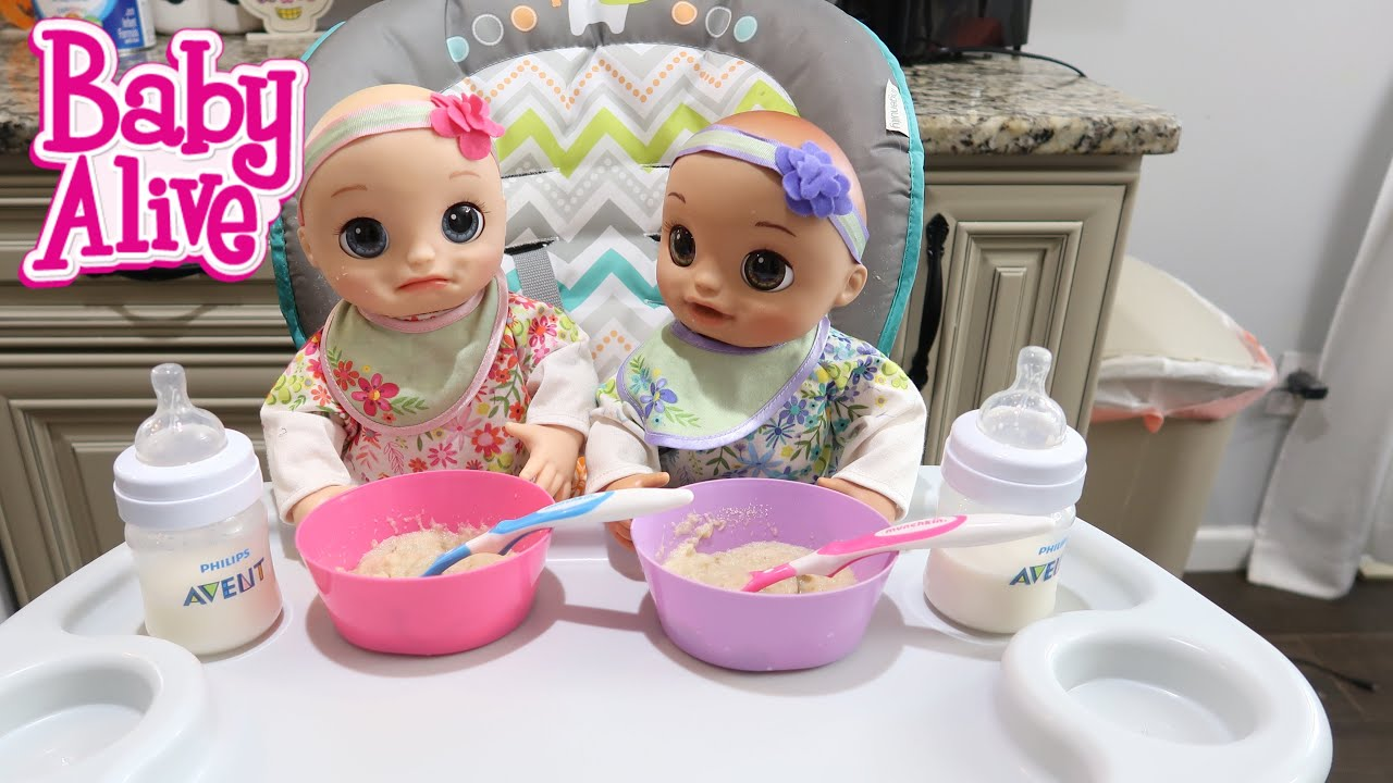 Baby Alive Twins Morning Routine Baby Alive Real As Can Be Baby Youtube