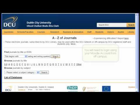 How to find an electronic journal article