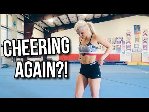 CHEERING FOR THE FIRST TIME IN MONTHS vlog